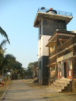 At the gate of the Korlai Lighthouse