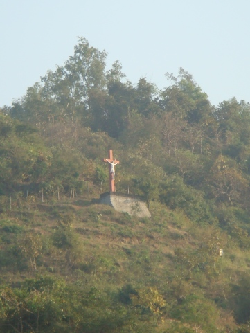 Signs of Portuguese habitation- The crucifix at Korlai village