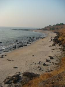 The stunning Korlai coast hugs the road