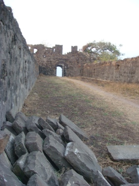 A view of one of the ramparts