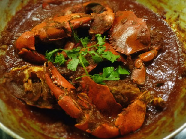 Fiery Indian Crab Curry