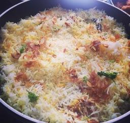 Lamb biryani, Bombay style!