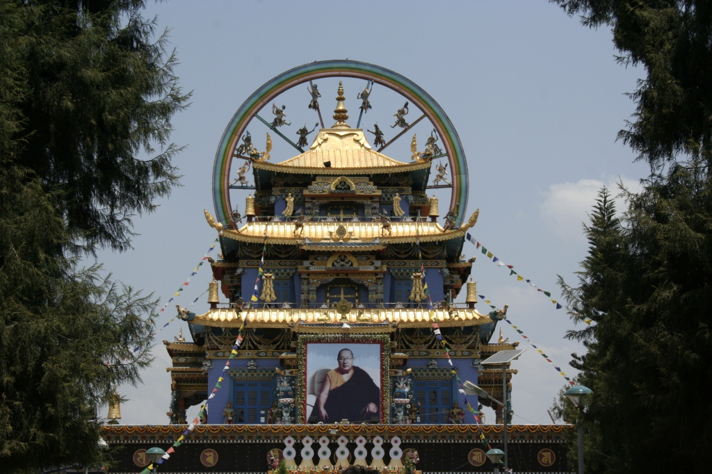 The Namdroling Monastery, the centre of TIbetan life in Kushalnagar