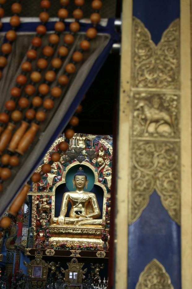 The calming Buddha inside the sanctum