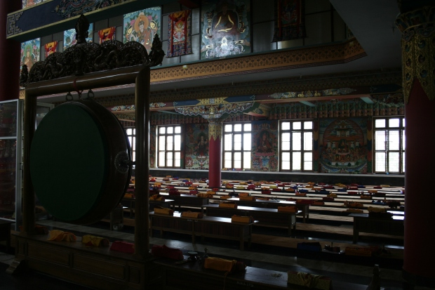 Over 2000 monks will take their seats by 1 pm to chant in these halls