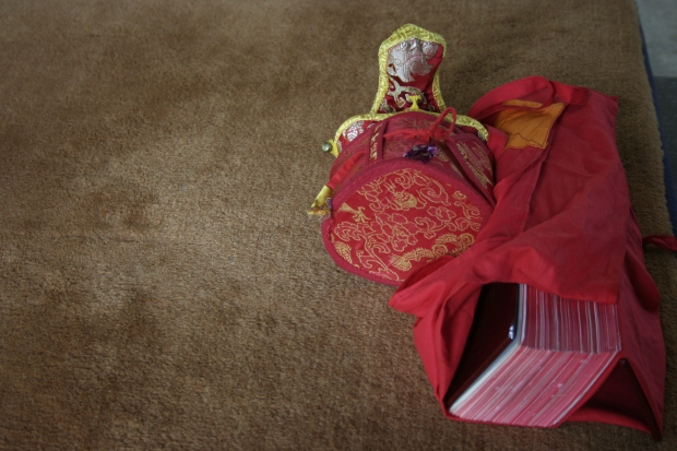 The meagre possessions of the novice monks